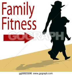 Racing clipart family fitness