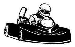 Racer clipart go kart