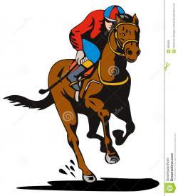 Horse Racing clipart cartoon