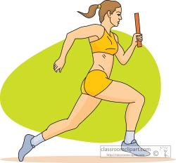 Racing clipart track and field