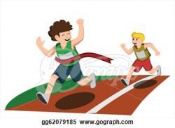 Racing clipart run a