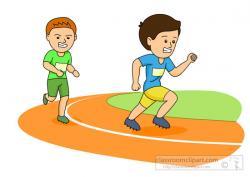 Sport clipart running track