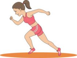 Race clipart track and field