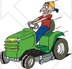 Racer clipart lawn mower