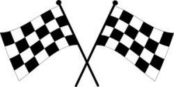 Checkerboard clipart race car