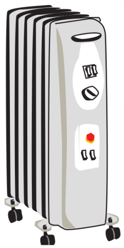 Radiator clipart space heater