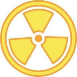 Radioactive clipart emblem