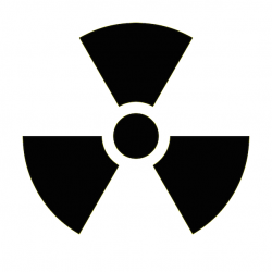 Radioactive clipart hazard sign