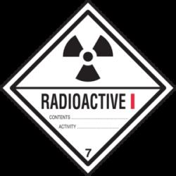 Radioactive clipart warning sign
