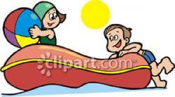 Beach clipart raft