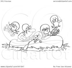 Raft clipart black and white