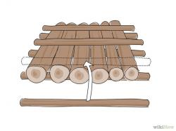 Raft clipart made wood
