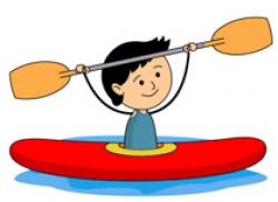 Rafting clipart paddle boat