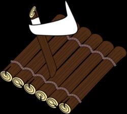Raft clipart wood