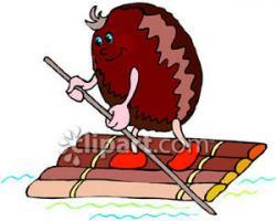 Raft clipart wooden raft