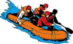 Rafting clipart