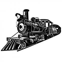 Railway Station clipart steam train