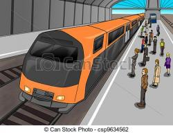 Subway clipart long train