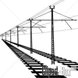 Rails clipart black and white