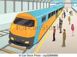 Train Station clipart train platform