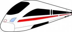 Train Station clipart fast train