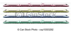 Railways clipart bullet train