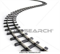 Railways clipart curved
