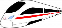 Railways clipart high speed train