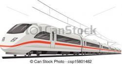 Drawn railroad speed train