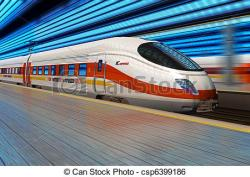 Train Station clipart bullet train