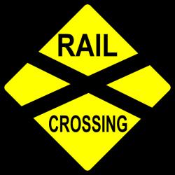 Train Station clipart railroad crossing