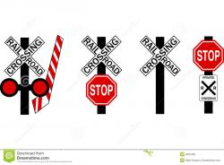 Stop clipart railway crossing