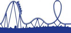 Rails clipart roller coaster track
