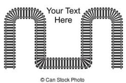 Railways clipart roller coaster track
