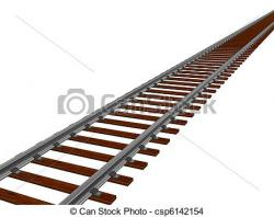 Rails clipart curved