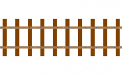 Rails clipart wooden train track