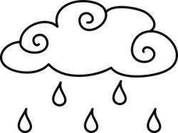Drawn raindrops black and white