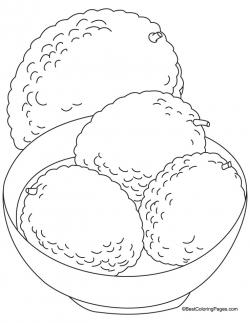 Lychee clipart black and white