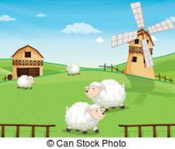 Ranch clipart farmhouse
