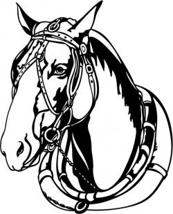 Clydesdale clipart harness