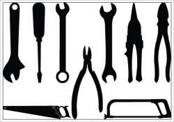 Screws clipart hand tool