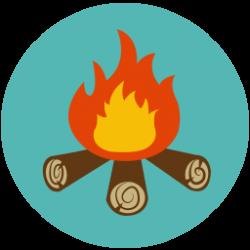 Randome clipart campfire story