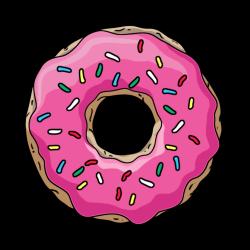 Dougnut clipart pink