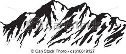 Alps clipart mountain outline