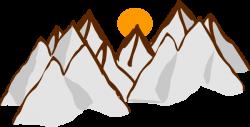 Colors clipart mountain range