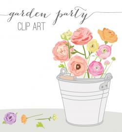 Ranuncula clipart garden party