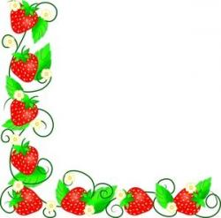 Raspberry clipart border