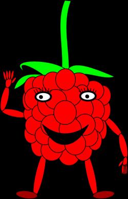 Rapsberry clipart cartoon