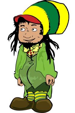 Rasta clipart cartoon