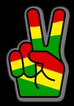 Rastas clipart peace finger